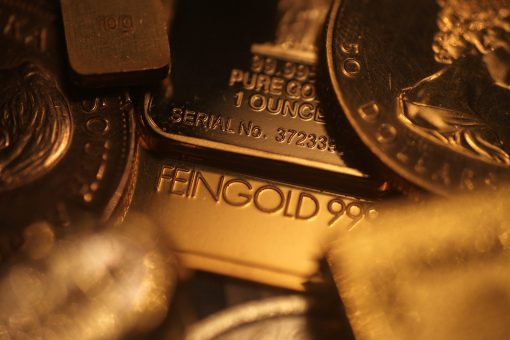 focus on 1 once gold bar between golden product